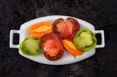 Multicolored tomatoes Royalty Free Stock Images