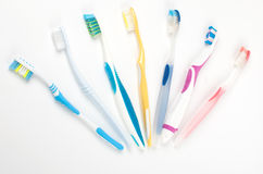 Multicolored toothbrushes  Royalty Free Stock Image