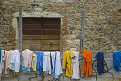 Multicolored towels Stock Photos