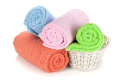 Multicolored towels Royalty Free Stock Images