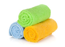 Multicolored towels Stock Images