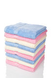 Multicolored towels stacked Royalty Free Stock Photo