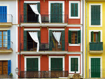 Multicolored town house facades Royalty Free Stock Image