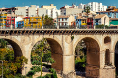 Multicolored town of Villajoyosa , Costa Blanca. Spain Royalty Free Stock Image