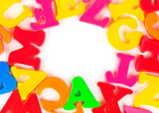 Multicolored toy letters