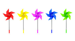 Multicolored Toy Pinwheel Windmill Royalty Free Stock Photography