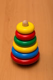 Multicolored toy pyramid Royalty Free Stock Photo