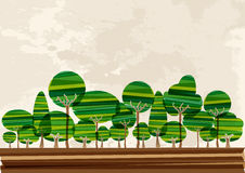 Multicolor forest landscape Stock Photo
