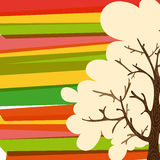 Multicolor tree background Royalty Free Stock Photography