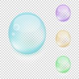Multicolored transparent drops Royalty Free Stock Photography