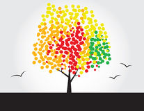 Multicolored tree Stock Image