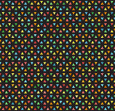 Multicolored triangle vector pattern. Seamless bright background Royalty Free Stock Image