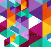 Multicolored triangles abstract background, mosaic tiles concept. Vector illustration royalty free illustration