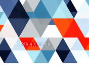 Multicolored triangles abstract background, mosaic tiles concept. Vector illustration vector illustration