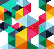 Multicolored triangles abstract background, mosaic tiles concept royalty free illustration