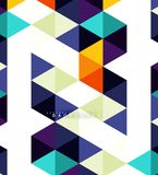 Multicolored triangles abstract background, mosaic tiles concept stock illustration