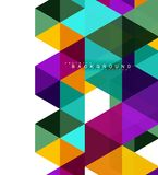 Multicolored triangles abstract background, mosaic tiles concept vector illustration