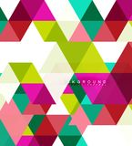 Multicolored triangles abstract background, mosaic tiles concept. Vector illustration stock illustration