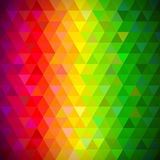 Multicolored triangles pattern vector background Stock Photos