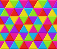Multicolored triangles seamless background pattern Royalty Free Stock Photo