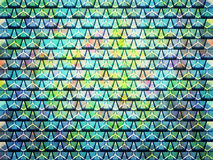 Multicolored triangular patterns Royalty Free Stock Image
