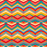 Multicolored tribal pattern Stock Images