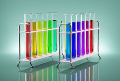 Multicolored tubes stock image