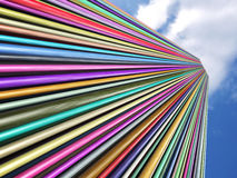 Multicolored tubes Stock Photography