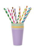 Multicolored tubes and cups Stock Photography
