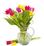Multicolored tulips bouquet Royalty Free Stock Photos