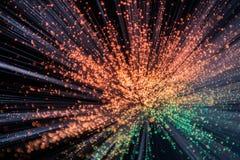 MUlticolored Uitbarsting van Lichte Explosie Royalty-vrije Stock Afbeeldingen