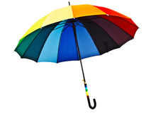 Multicolored umbrella Stock Photos
