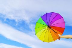 Multicolored umbrella Royalty Free Stock Images