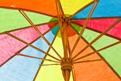 Multicolored umbrella royalty free stock photos