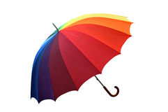 Multicolored Umbrella with Clipping Path Royalty Free Stock Photos