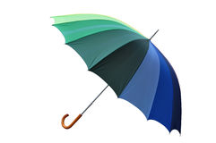 Multicolored Umbrella with Clipping Path Royalty Free Stock Photo