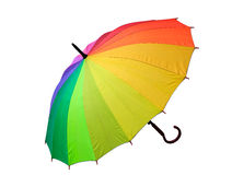 Multicolored umbrella Stock Image