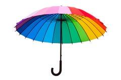 Multicolored umbrella. Isolated on white background Royalty Free Stock Image