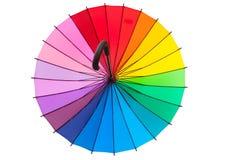 Multicolored umbrella. Isolated on white background Stock Image