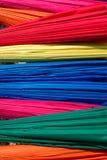 Multicolored umbrellas Stock Photo