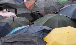 Multicolored Umbrellas Stock Photography