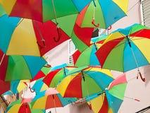 Multicolored umbrellas Royalty Free Stock Photo