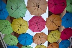 Multicolored umbrellas Royalty Free Stock Image
