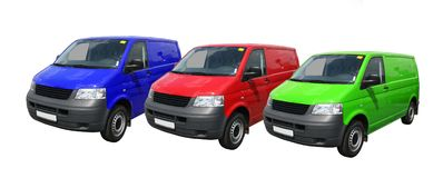 Multicolored vans Royalty Free Stock Photo