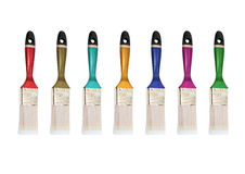 Multicolored varkenshaar stock foto's