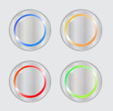 Multicolored vector buttons Royalty Free Stock Photo