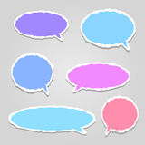 Multicolored vector dialog clouds Stock Image