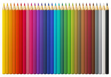 Multicolored vectorpotloden Stock Afbeelding