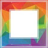Multicolored veelhoekige grens Stock Afbeelding