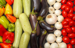 Multicolored Vegetable Variety background Stock Image